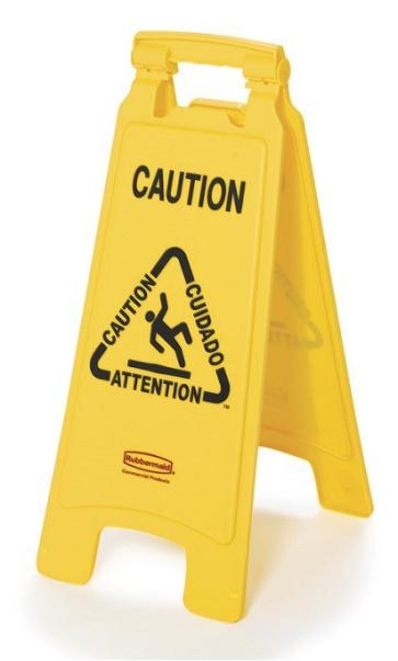 Opozorilni znak - dvostranski