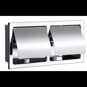 Dvojno držalo za toaletni papir s pokrovom