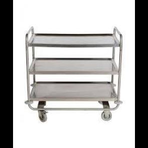 Servirni voziček - nerjaveče jeklo 18-10