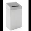 Koš za sanitarne odpadke iz nerjavečega jekla, s higienskim pokrovom - 18 l